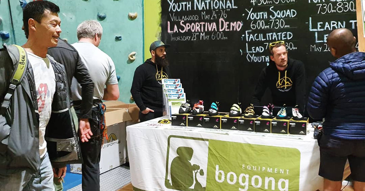 James at the Bogong stall