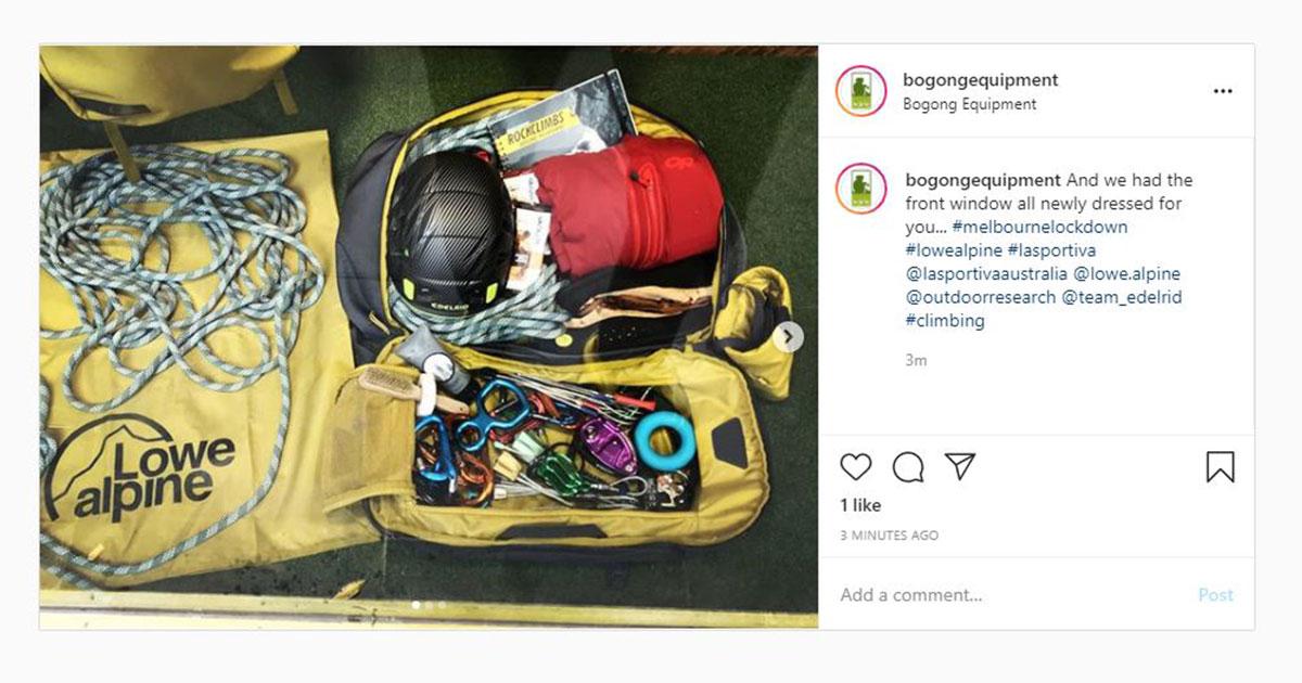 Bogong Instagram screenshot - Neil aiding