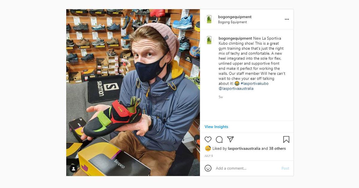 Bogong Instagram screenshot - Will with Kubo