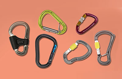 Image of carabiners for rock climbing