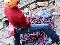 Ropes for rock climbing