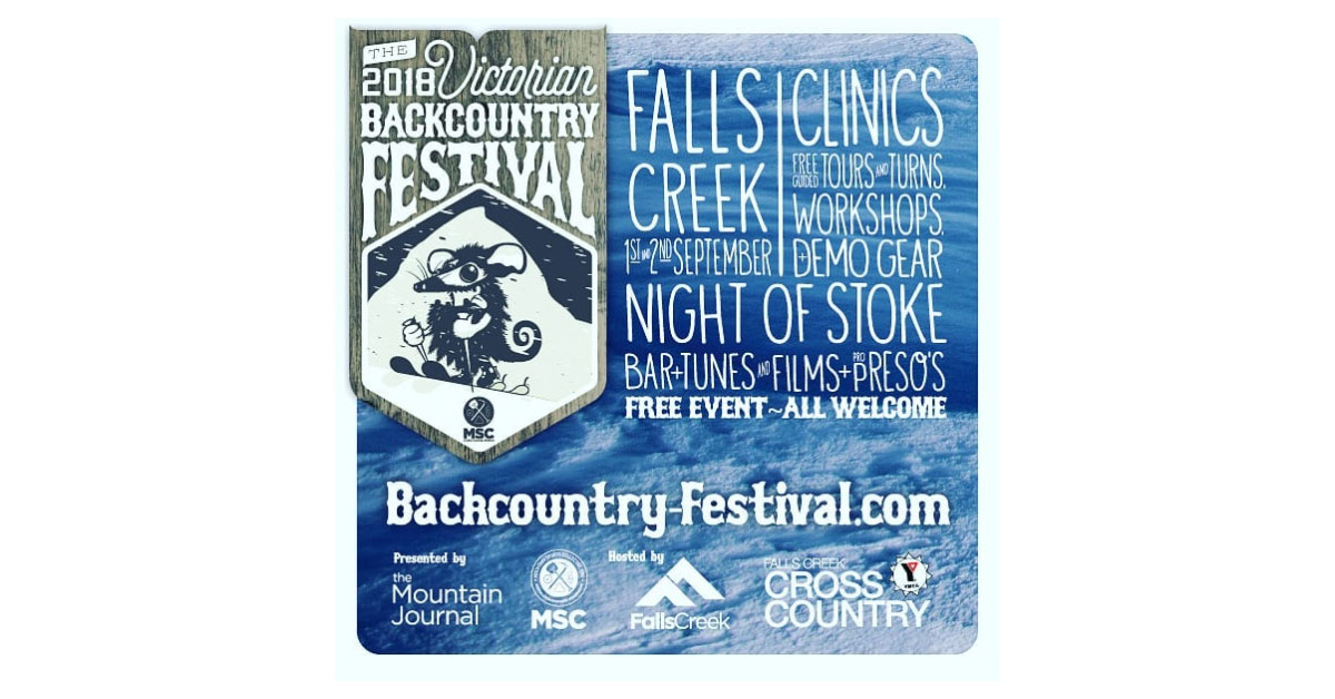 Victorian Backcountry Festival poster