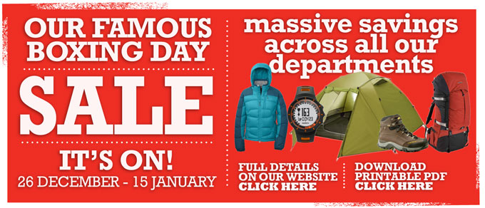 Sale on 26 December - 15 January